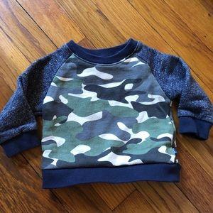 Other - Camo sweatshirt 6M